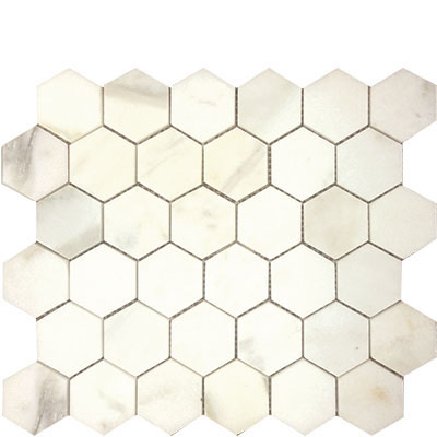 Calacata Gold Hexagon 2